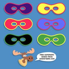 Masketeers Printable Masks: Free Printable Superhero Masks!