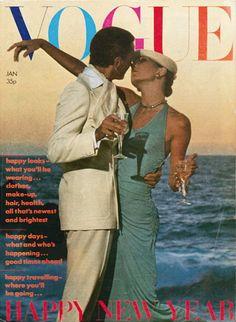 Manolo Blahnik and Anjelica Huston   Cover - #Vogue UK 1974   Beatrix Miller: Editor