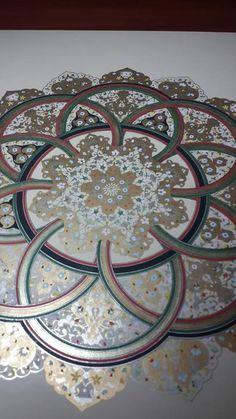 Sema Onat / Tezhip Şükufe Minyatür / Sanatçısı Turkish Art, Mandala Painting, Illuminated Manuscript, Islamic Art, Art Forms, Flower Art, Folk Art, Initials, Delicate
