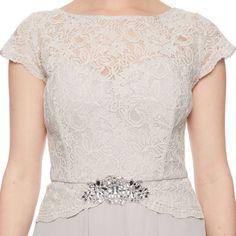 Jenny Packham Silver Light Grey Occasion Dress UK18 Vintage Glamour