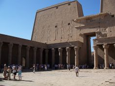 Visit Edfu Temple; One of the finest sites in the Nile Valley. The temple is dedicated to the falcon headed god Horus and It is believed to be built on the site of the great battle between Horus and Seth. #Egypt #Edfu #Sightseeing #Nile #Cruises #Trips