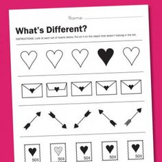 Valentine Preschool Worksheet {Holiday Crafts}