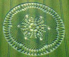 Mandala in a field or grassy area :)