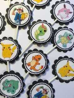 30 Dimensional Pokemon Cupcake Toppers Ready by moonshadowmusings