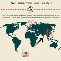Das Geheimnis unserer Tees?🤔 Jedes unserer Produkte ist nach den Längen- und Breitengeraden seines Herkunftsortes benannt. Die Buchstaben S, G, W, O und K bezeichnen dabei die jeweilige Sorte. Unser Schwarztee S8 beispielsweise stammt aus Balangoda in Sri Lanka.😮 Probier dich gern durch unsere Sorten schwarzen, grünen, weißen, Oolong- und Kräutertees.  #teemixshop #TM #tealover #Teeliebhaber #Balangoda #srilanka #tee #tea #greentea #blacktea #oolongtea #hamburg #altona