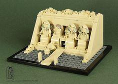 "#LEGO #Microscale | Lego Abu Simbel by Kristi ""McWii"""