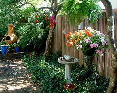 love the hanging baskets!