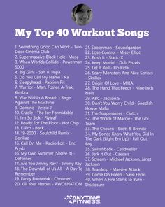 Get inspired to move by Anytime Fitness staffer, Debbie Pias and her top 40 favorite workout songs of all time.