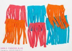 Schmuck DIY Tutorial: Quasten-Halskette aus alten T-Shirts selber basteln - Fransen schneiden