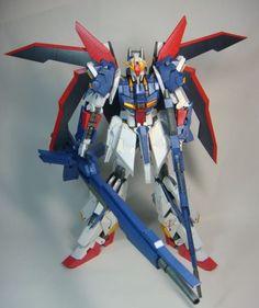 MSZ-006 Zeta Gundam Gundam Papercraft, Zeta Gundam, New Mobile, Figure Model, Mobile Suit, Paper Models, Kids Toys, Action Figures, Paper Crafts