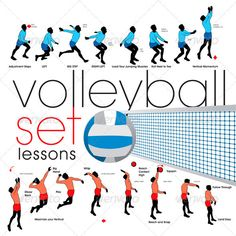 Buy Volleyball Exercises Set by kaludov on GraphicRiver. Two Volleyball exercises set Volleyball Training, Volleyball Tryouts, Volleyball Skills, Volleyball Practice, Volleyball Quotes, Coaching Volleyball, Volleyball Pictures, Volleyball Setter, Volleyball Outfits