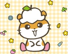 Corocorokuririn Sanrio - A little golden hamster who loves to collect things from around the house and eats cookies and sunflower seeds.