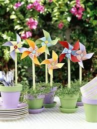 pinwheels - these would be really cute party favors for a spring birthday or garden party.Potted pinwheels - these would be really cute party favors for a spring birthday or garden party. First Birthday Parties, First Birthdays, Spring Birthday Party Ideas, Party Summer, Spring Party Themes, Park Birthday, Garden Birthday, Summer Picnic, Summer Wedding