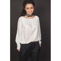 White snowball - Romanian blouse Snowball, Ruffle Blouse, Jackets, Tops, Women, Fashion, Down Jackets, Moda, Fashion Styles