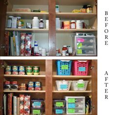 Just one way to fix kitchen cabinet chaos.