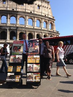 Street work in Italy by Ramon Valdez~How encouraging it is to see this happening right in front of the same Roman Coliseum where the early (true) Christians were brutally murdered for their unwavering faith and dedication to God! -- Visit JW.org