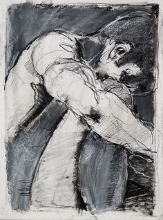 Tim Dayhuff - drawing - August 2014 - charcoal and white pastel on paper - 15 x…