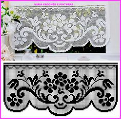 Elegant Filet Crochet Tablecloth For Mod - Diy Crafts - DIY & Crafts Crochet Patterns Filet, Crochet Lace Edging, Crochet Borders, Crochet Diagram, Thread Crochet, Crochet Designs, Crochet Doilies, Easy Crochet, Crochet Stitches