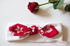 Opaska Pin-Up - tutorial i wykrój do pobrania Pin Up, Fabric Flowers, Tulips, Tableware, Diy, Design, Amelia, Fashion, Manualidades