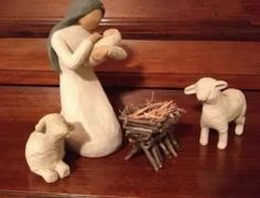 Make a twig manger for my Willow Tree nativity set. Make a twig manger for my Willow Tree nativity s Willow Tree Nativity Set, Willow Tree Figures, Willow Tree Angels, Christmas Nativity Scene, Christmas Mantels, Winter Christmas, Christmas Tree Decorations, Christmas Time, Christmas Crafts