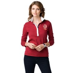 This polo adds a twist to the classic polo styling with long sleeves and a  regular 7d7efa6f9