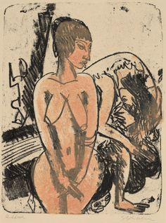 Kirchner, Ernst Ludwig  German, 1880 - 1938  Two Women 1914