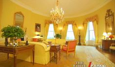 Yellow Oval Room of the White House