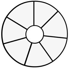printable color wheel template kindergarten - Google Search ...