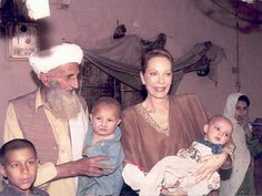 Princess Salimah Aga Khan visited the refugee camp of Badaber in Pakistan