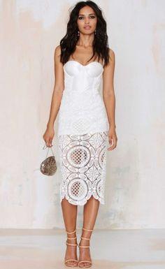 $129.99 Cutout Lace Bandage Dress