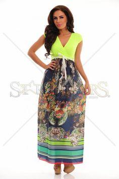 Rochita Long Cut, Product Label, Blue Dresses, Elastic Waist, Floral Prints, Fantasy, Club, Casual, Fabric