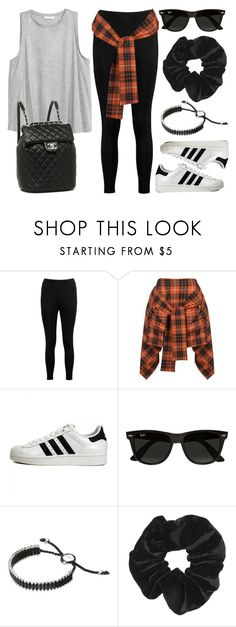 """Sin título #12586"" by vany-alvarado ❤ liked on Polyvore featuring Boohoo, H&M, Vivienne Westwood Anglomania, adidas Originals, Chanel, Ray-Ban, Links of London and Topshop"
