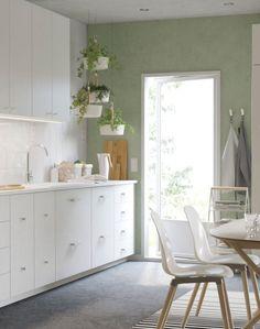 Frisk grønnfarge på kjøkkenet, ikea