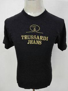 Vintage Trussardi Jeans Big Logo Embroidery Size 42/Large