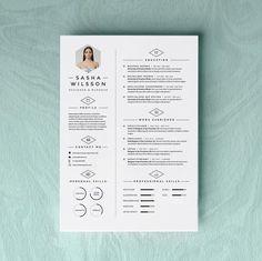 Custom Resume CV Design  Cover Letter Template  by OddBitsStudio, $18.80