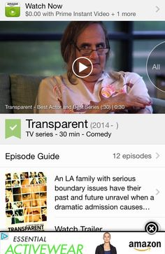 Remember the Golden Globes?  After we watched #Transparent , we can see why it did so well.  Transparent took home the prize for best TV series, musical or comedy, and Jeffrey Tambor won the Golden Globe for best actor in a comedy series for his role as Maura Pfefferman, a transgender woman in the series.  Relevant #TV telling everyone's personal journey.