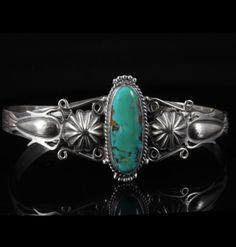 Raymond Delgado Turquoise Sterling Silver Bracelet
