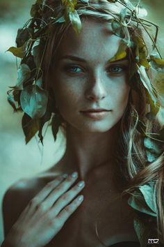 Dryads ~ nymphs of the trees, forests and groves Fantasy Photography, Portrait Photography, Forest Photography, Fairy Photoshoot, Wood Nymphs, Arte Obscura, Mystique, Portraits, Poses