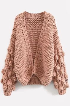 How to knit a chunky Knit Cardigan? Extreme Chunky Knit Cardigan - The LooselyStore Cardigan Long, Chunky Knit Cardigan, Cardigan Sweaters For Women, Sweater Coats, Cardigans For Women, Winter Cardigan, Knit Fashion, Sweater Fashion, Handgestrickte Pullover