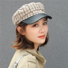 Plaid Fashion, Womens Fashion, Baker Boy Cap, Winter Hats For Women, British Style, Gray Color, Outdoors, Autumn, Lady
