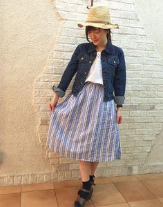 リーズナブルでおしゃれが嬉しい♪おしゃれなしまめるコーデ♡ファッション・スタイルのアイデア☆