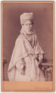 Turkish Lady, 1870s. via carolathhabsburg's tumblr.