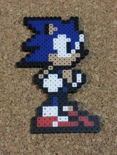 Sonic Bead Sprite  Sonic the Hedgehog  Super by DCBPerlerSprites