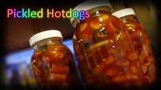 Welcome back for one of my family's favorite snacks. The spice level in this is easily customizable by adjusting the amount of hot sauce added to the brine. Pickled Wieners Recipe, Spicy Pickled Sausage Recipe, Spicy Pickled Eggs, Hot Sausage Recipes, Hot Dog Recipes, Hot Dog Weiner, Hot Dog Bar, Nacho Bar, Patriotic Crafts