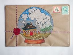 Hand Drawn SNOWGLOBE Envelope