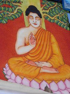 Ranjana's Craft Blog: Paintings of Buddha- at Chitrasante 2016