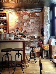 Home Decoration For Ganpati Product Paris Kitchen, Bistro Kitchen, Kitchen Redo, Kitchen Design, Old Town Hotels, Bistro Decor, Bakery Interior, Book Bar, Decoration For Ganpati
