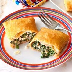 This traditional Greek-style dish featuring seasoned spinach, cream cheese and feta cheese is made simple and deliciousby using store-bought puff pastry sheets. Comments