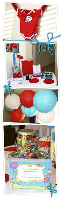 Design Dazzle: Dr. Seuss Baby Shower - this decor has some awesome ideas for Jacob's bday!