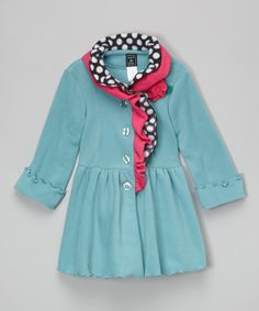 Another great find on #zulily! Patina Ruffle-Collar Coat - Infant, Toddler & Girls by Mack & Co #zulilyfinds